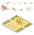 children playground isometric icon set vector image vector image