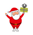 Christmas happy santa claus holding gift