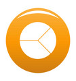 circle graph icon orange vector image vector image