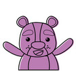 color adorable and cheerful bear wild animal vector image vector image
