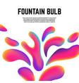 colorful contemporary shapes liquid or fluid vector image