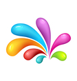 Colourful abstrak icon of heart vector image