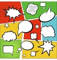 Comic strip and comic speech bubbles on colorful vector image vector image