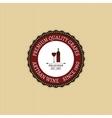 Delicious Wine Label vector image
