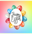 easter greeting card with lettering inscription vector image vector image