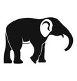 elephant icon simple style vector image vector image