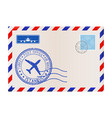 envelope with postmark istanbul turkey vector image vector image