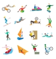 Extreme Sports Icons vector image vector image