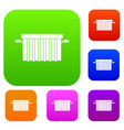 garbage tank set color collection vector image vector image