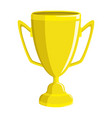 gold cup on a white background vector image