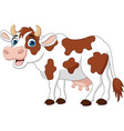 happy cartoon cow isolated on white background vector image vector image