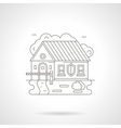 House with barrier line detail vector image vector image