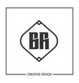 initial letter br logo template design vector image