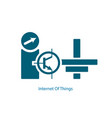 internet of things symbol vector image vector image