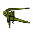 lever-style corkscrew vector image vector image