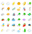 lightning icons set isometric style vector image vector image