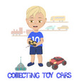 little boy standing in front vector image