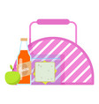 lunch box icon flat style vector image vector image