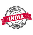 made in india round seal vector image vector image