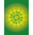 mandala of forest sun vector image vector image