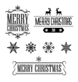 Merry Christmas decorative signs and frames vector image vector image