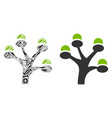 money tree mosaic of repair tools vector image vector image