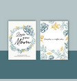 mothers day colorful card with classic sketch vector image vector image
