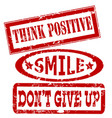 motivation and positive thinking messages rubber vector image vector image