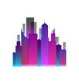 neon city icon vector image