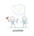 plumber says customer vector image vector image