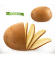 potato chips 3d realistic icon vector image vector image