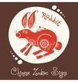 Rabbit Chinese Zodiac Sign vector image
