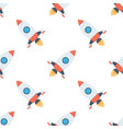 rockets seamless pattern vector image