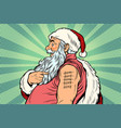 santa claus with tattoos 2018 vector image
