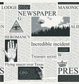 seamless pattern on theme newspapers vector image vector image