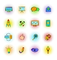 Seo icons comics vector image vector image
