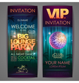 set disco background banners big lounge party vector image vector image