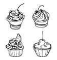 set of chocolates collection of stylized vector image vector image