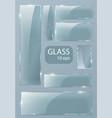 Seth empty transparent glass plates