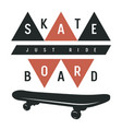 skateboard 014 vector image vector image