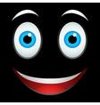 Smile emoticon sign vector image vector image
