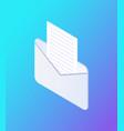 social network envelope icon vector image