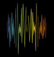 sound banner color logo equalizer vector image vector image