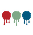 spilled paint design element vector image vector image