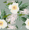 spring bouquets on vintage green background vector image vector image