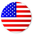 stars and stripes circle vector image vector image