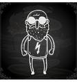 Sunlgass Man Drawing on Chalk Board vector image vector image