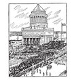 tomb of general ulysses s grant vintage vector image vector image