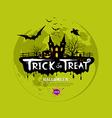 Trick or treat halloween design vector image vector image