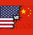 usa versus china flag vector image vector image